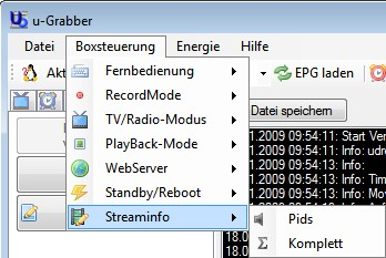 D-Box Streaminfo